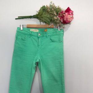 Pilcro and the Letterpress | STET green Capri Jean